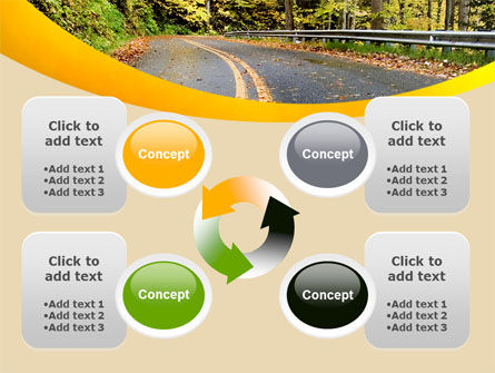Autumn Road PowerPoint Template Slide 9