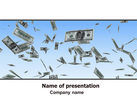 Financial/Accounting: Flying Dollars PowerPoint Template #06537
