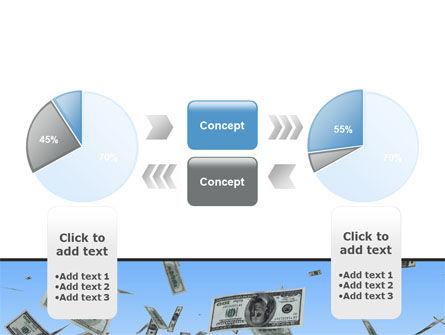 Flying Dollars PowerPoint Template Slide 11