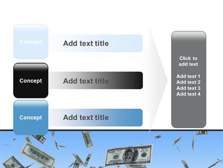 Flying Dollars PowerPoint Template Slide 12