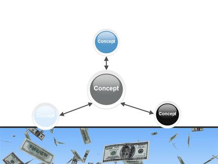 Flying Dollars PowerPoint Template Slide 14