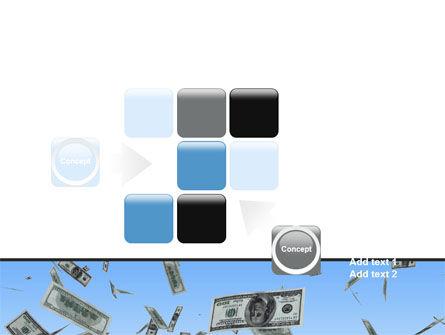 Flying Dollars PowerPoint Template Slide 16