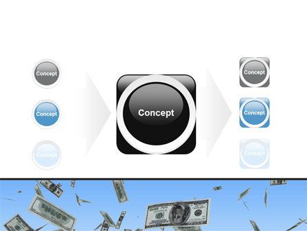 Flying Dollars PowerPoint Template Slide 17