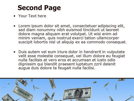 Flying Dollars PowerPoint Template Slide 2