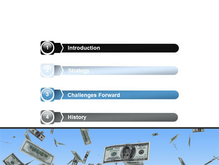 Flying Dollars PowerPoint Template Slide 3