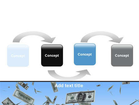 Flying Dollars PowerPoint Template Slide 4