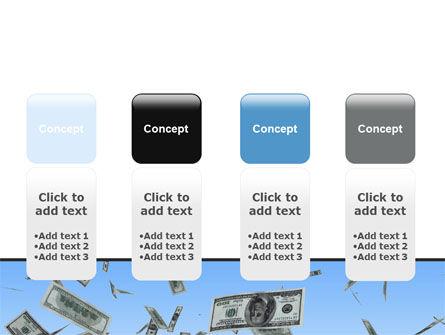 Flying Dollars PowerPoint Template Slide 5