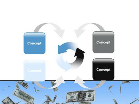 Flying Dollars PowerPoint Template Slide 6
