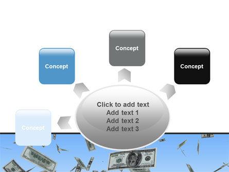 Flying Dollars PowerPoint Template Slide 7