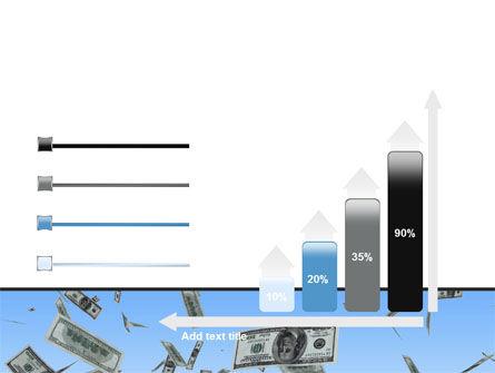 Flying Dollars PowerPoint Template Slide 8