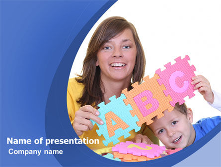 Home Education PowerPoint Template, 06538, Education & Training — PoweredTemplate.com