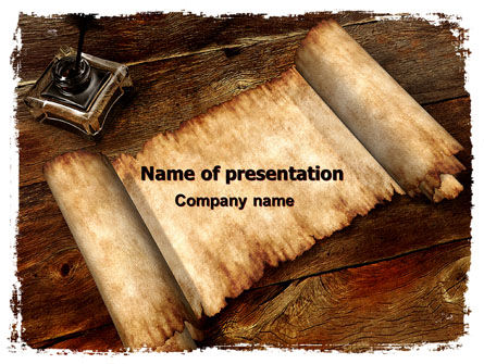 Education & Training: Ancient Scroll PowerPoint Template #06539