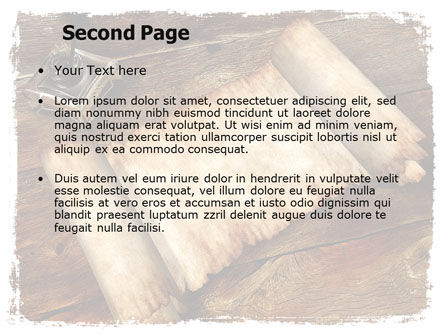 Ancient Scroll PowerPoint Template Slide 2