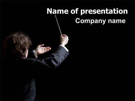 Music Conductor PowerPoint Template, 06541, Careers/Industry — PoweredTemplate.com