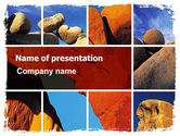 Nature & Environment: Yellow Rocks PowerPoint Template #06542