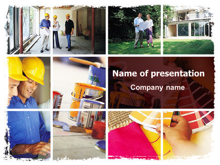Construction: Renovaties Huis PowerPoint Template #06543