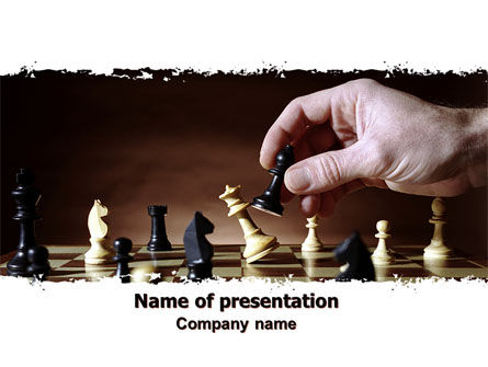 Chess Tactics PowerPoint Template, 06544, Business Concepts — PoweredTemplate.com