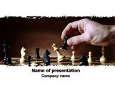 Business Concepts: Chess Tactics PowerPoint Template #06544