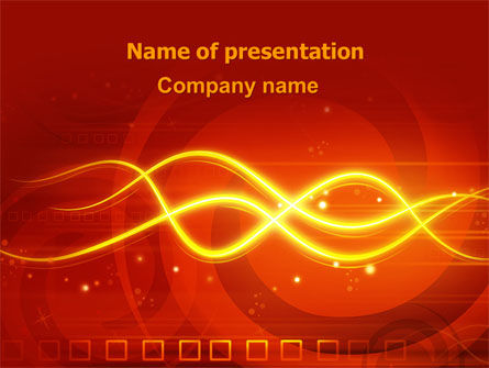 Glowing Wave PowerPoint Template