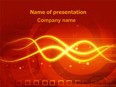 Abstract/Textures: Glowing Wave PowerPoint Template #06546