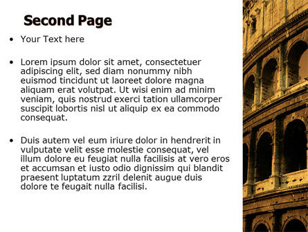 Colosseum PowerPoint Template Slide 2