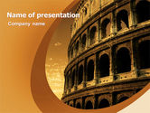 Construction: Colosseum PowerPoint Template #06549