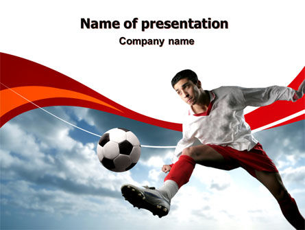Penalty Kick PowerPoint Template, 06550, Sports — PoweredTemplate.com