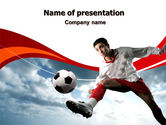Sports: Penalty Kick PowerPoint Template #06550