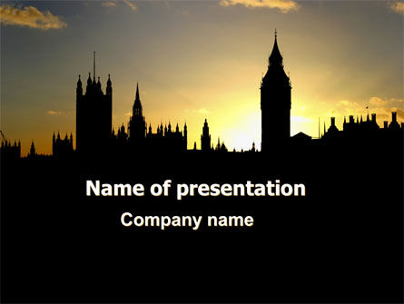 Big Ben and House of Parliament Free PowerPoint Template