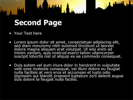 Big Ben and House of Parliament Free PowerPoint Template Slide 2