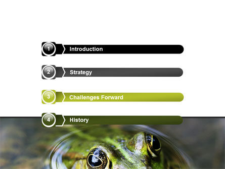 Marsh Frog PowerPoint Template, Slide 3, 06553, Animals and Pets — PoweredTemplate.com