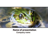 Animals and Pets: Marsh Frog PowerPoint Template #06553