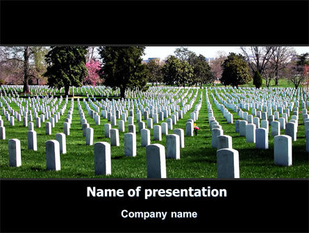 Cemetery PowerPoint Template, 06555, Holiday/Special Occasion — PoweredTemplate.com