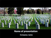 Holiday/Special Occasion: Cemetery PowerPoint Template #06555