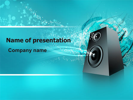 Music Speaker PowerPoint Template, 06557, Art & Entertainment — PoweredTemplate.com
