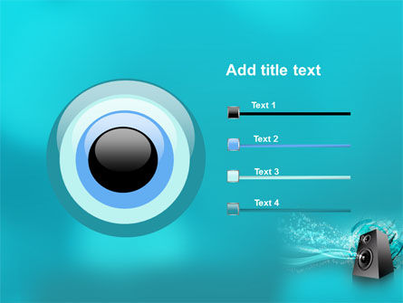 Music Speaker PowerPoint Template Slide 9