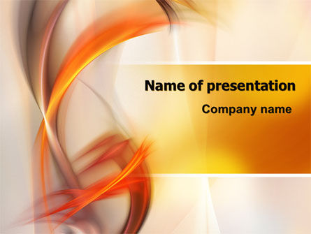 Yellow Swirls PowerPoint Template