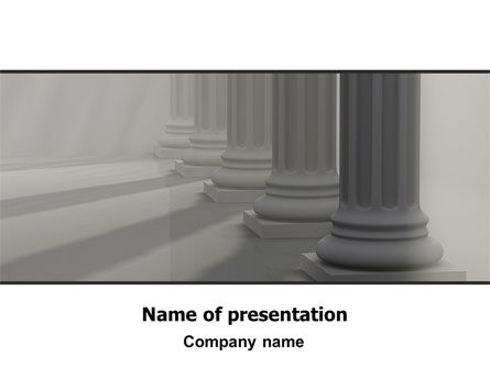 Colonnade PowerPoint Template, 06560, Art & Entertainment — PoweredTemplate.com