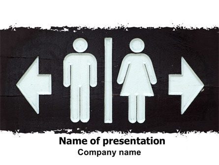 Consulting: Gender Difference PowerPoint Template #06561