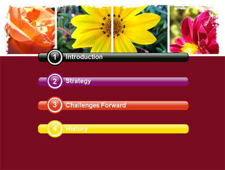 Garden Flowers PowerPoint Template, Slide 3, 06562, Agriculture — PoweredTemplate.com