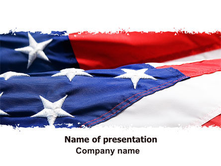 Proudly Soaring American Flag PowerPoint Template