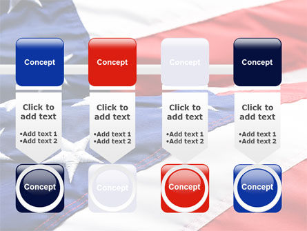 Proudly Soaring American Flag PowerPoint Template Slide 18