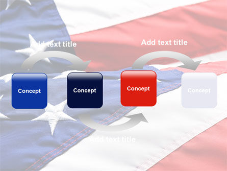 Proudly Soaring American Flag PowerPoint Template Slide 4