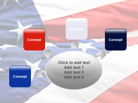 Proudly Soaring American Flag PowerPoint Template Slide 7