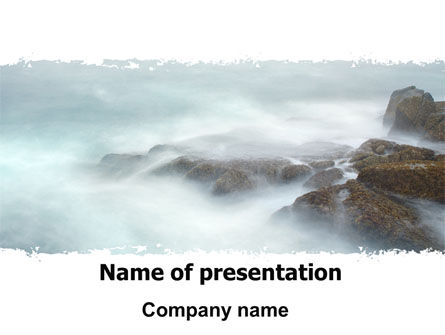 Nature & Environment: Misty Shore PowerPoint Template #06564