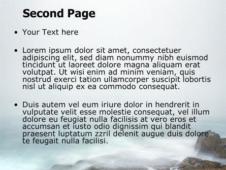 Misty Shore PowerPoint Template, Slide 2, 06564, Nature & Environment — PoweredTemplate.com