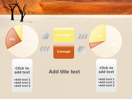 desert trees free powerpoint template backgrounds 06565