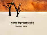 Nature & Environment: Desert Trees Free PowerPoint Template #06565