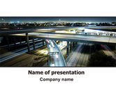 Construction: Junction On Highway PowerPoint Template #06566