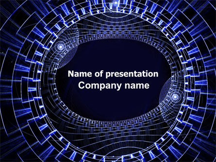 Abstract/Textures: Fantasy Blue Design PowerPoint Template #06567